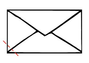 Funnel out of an envelope