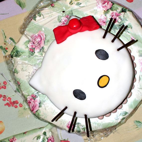 Hello Kitty Cake Top View