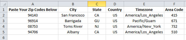 Zipcode to City, State Excel Spreadsheet – Edel Alon
