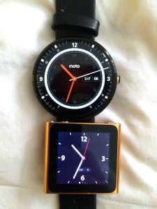 moto 360 and ipod